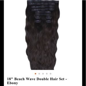 """Beautyworks online dbl beach wave clip in 18"""""""